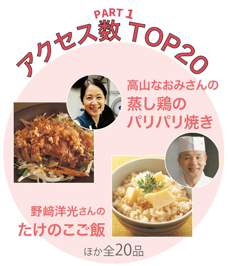PART1 THE KING OF みんなのきょうの料理 アクセス数 TOP20
