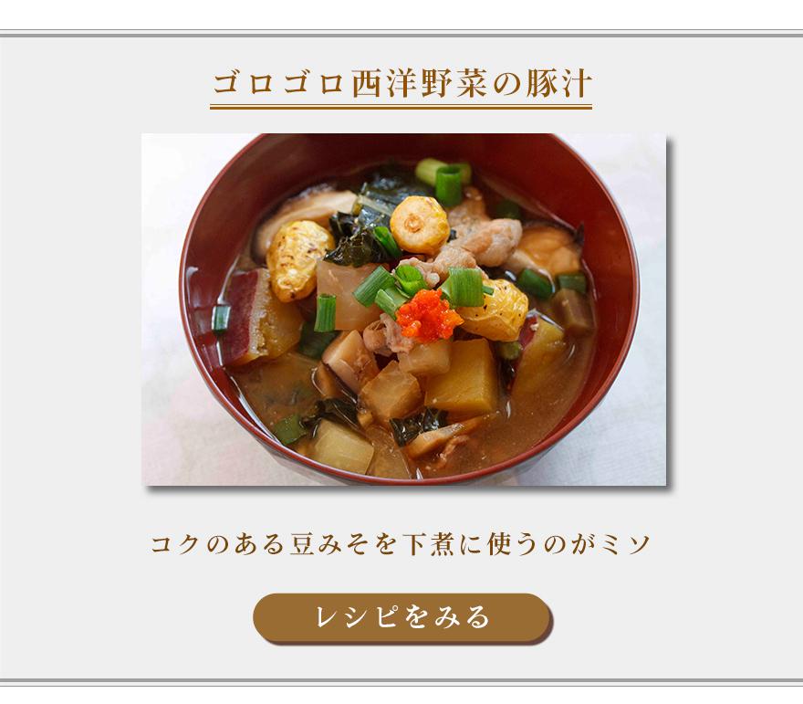 ゴロゴロ西洋野菜の豚汁