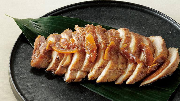 鶏むね肉のマーマレード漬け