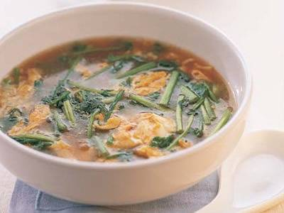 せりのスープ