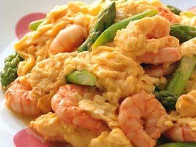 えびとアスパラガスの卵炒め レシピ 高城 順子さん|【みんなのきょうの料理】おいしいレシピや献立を探そう