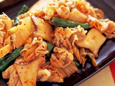 豚肉 キムチ 炒め