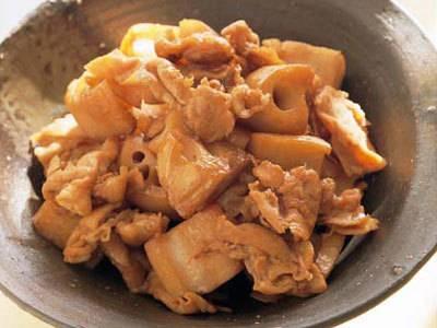 豚肉とれんこんの炒め煮レシピ 講師は栗原 はるみさん|使える料理レシピ集 みんなのきょうの料理 NHKエデュケーショナル