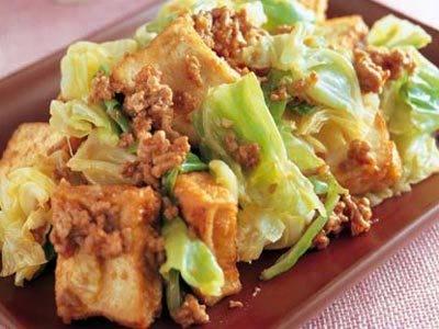キャベツと厚揚げのみそ炒め レシピ 河野 雅子さん|【みんなのきょうの料理】おいしいレシピや献立を探そう