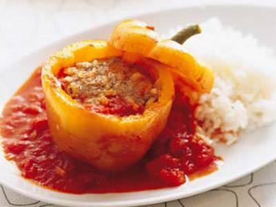 ジャンボピーマンの肉詰め レシピ 門倉 多仁亜さん 【みんなのきょうの料理】おいしいレシピや献立を探そう