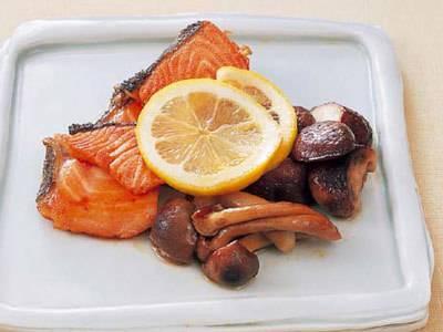 秋ざけときのこのいっしょ焼き レシピ 田中 愛子さん|【みんなのきょうの料理】おいしいレシピや献立を探そう