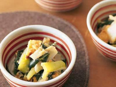 ねぎとわかめのごま酢みそあえ レシピ 田口 成子さん|【みんなのきょうの料理】おいしいレシピや献立を探そう