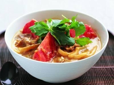トマトカレーうどん レシピ 永山 久夫さん|【みんなのきょうの料理】おいしいレシピや献立を探そう