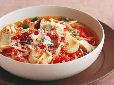 きのことトマトのスープスパ レシピ 山本 麗子さん|【みんなのきょうの料理】おいしいレシピや献立を探そう