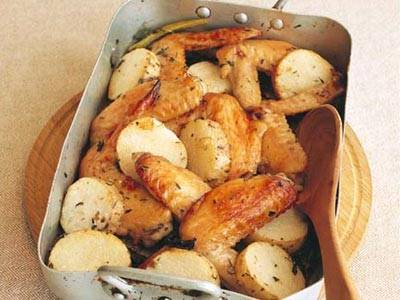 長芋と手羽先のオーブン焼き レシピ 枝元 なほみさん|【みんなのきょうの料理】おいしいレシピや献立を探そう