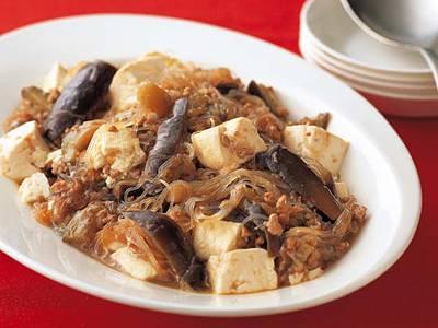マーボーなす春雨豆腐 レシピ 奥薗 壽子さん 【みんなのきょうの料理】おいしいレシピや献立を探そう