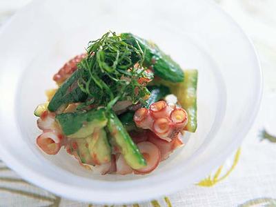 きゅうりとたこの梅肉ドレッシングあえ レシピ 笹島 保弘さん 【みんなのきょうの料理】おいしいレシピや献立を探そう