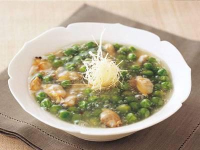 えんどう豆とあさりの煮物