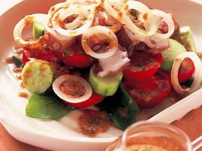 たことトマトのサラダ ごまみそドレッシング レシピ 熊谷 喜八さん 【みんなのきょうの料理】おいしいレシピや献立を探そう