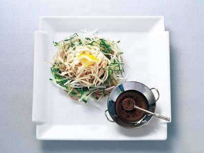 ささ身の酒蒸しサラダ 塩ごまだれ添え レシピ 田中 愛子さん|【みんなのきょうの料理】おいしいレシピや献立を探そう