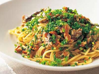 オイルサーディンの和風スパゲッティ レシピ 日高 良実さん|【みんなのきょうの料理】おいしいレシピや献立を探そう