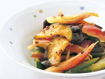 みょうがと夏野菜の即席漬け レシピ 河野 雅子さん 【みんなのきょうの料理】おいしいレシピや献立を探そう