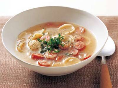 ソーセージのスープパスタ レシピ 山内 けい子さん|【みんなのきょうの料理】おいしいレシピや献立を探そう