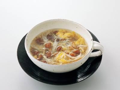 えのきとなめこのかきたまスープ レシピ 小林 まさみさん|【みんなのきょうの料理】おいしいレシピや献立を探そう