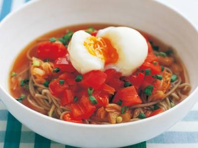 ぶっかけトマトそば レシピ 牧野 直子さん|【みんなのきょうの料理】おいしいレシピや献立を探そう