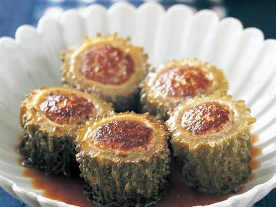 中国風ゴーヤーの肉詰め レシピ 高城 順子さん|【みんなのきょうの料理】おいしいレシピや献立を探そう