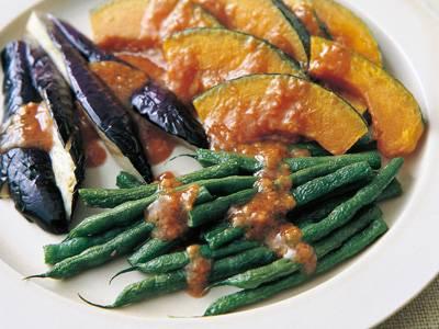 揚げ野菜の甘みそがけ レシピ 夏梅 美智子さん 【みんなのきょうの料理】おいしいレシピや献立を探そう