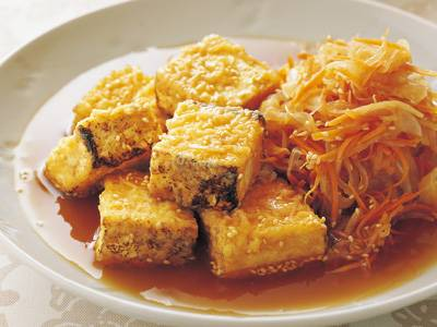 焼き豆腐の甘酢南蛮 レシピ 小林 まさみさん みんなのきょうの料理 おいしいレシピや献立を探そう