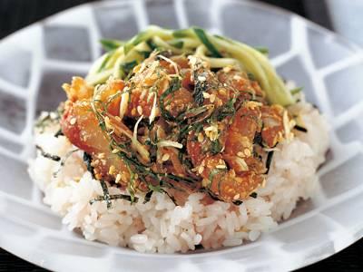 梅ご飯のあじのせ丼 レシピ 平山 由香さん|【みんなのきょうの料理】おいしいレシピや献立を探そう