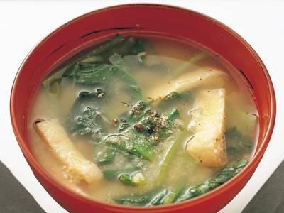 油揚げと小松菜のおから汁 レシピ 本多 京子さん|【みんなのきょうの料理】おいしいレシピや献立を探そう