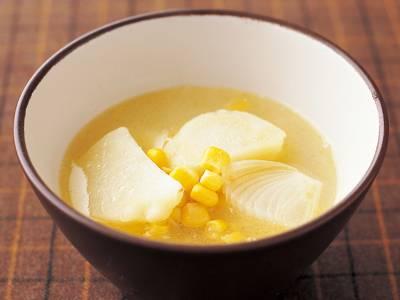 じゃがバタコーン汁 レシピ 福山 秀子さん|【みんなのきょうの料理】おいしいレシピや献立を探そう