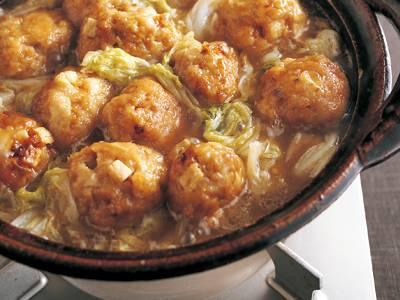 豚肉の大だんご鍋 レシピ 枝元 なほみさん|【みんなのきょうの料理】おいしいレシピや献立を探そう