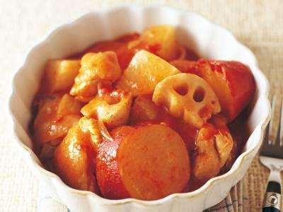 鶏肉と根菜のトマトビール煮 レシピ 足立 敦子さん|【みんなのきょうの料理】おいしいレシピや献立を探そう