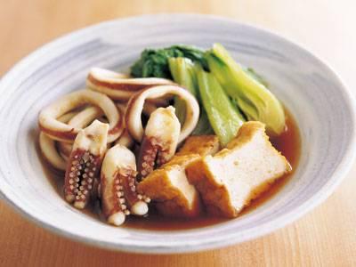 いかと厚揚げ、青菜のサッと煮 レシピ 尾身 奈美枝さん|【みんなのきょうの料理】おいしいレシピや献立を探そう