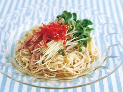 ヘルシー冷やし中華 レシピ 牧野 直子さん|【みんなのきょうの料理】おいしいレシピや献立を探そう