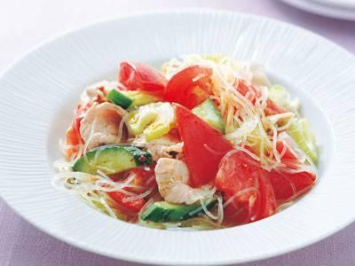 トマトと豚しゃぶのエスニック風 レシピ 高城 順子さん|【みんなのきょうの料理】おいしいレシピや献立を探そう