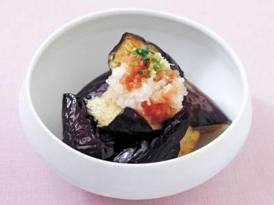 揚げなすの明太おろし レシピ 門間 和子さん|【みんなのきょうの料理】おいしいレシピや献立を探そう