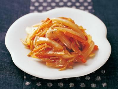 たまねぎ、にんじん、 じゃこの和風炒め レシピ 足立 敦子さん 【みんなのきょうの料理】おいしいレシピや献立を探そう