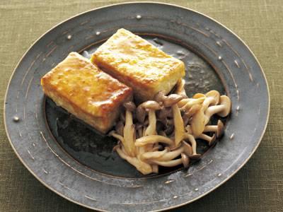 しめじと豆腐のソテー レモンバターソース レシピ 福山 秀子さん|【みんなのきょうの料理】おいしいレシピや献立を探そう