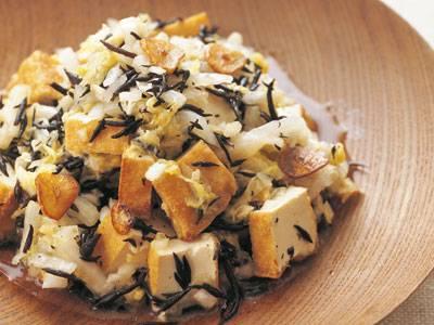 白菜と厚揚げのガーリックサラダ レシピ 瀬尾 幸子さん|【みんなのきょうの料理】おいしいレシピや献立を探そう