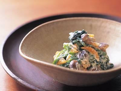ほうれんそうとしめじの白あえ レシピ 杉本 節子さん|【みんなのきょうの料理】おいしいレシピや献立を探そう