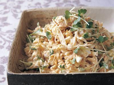 切干大根の卵たっぷりサラダ