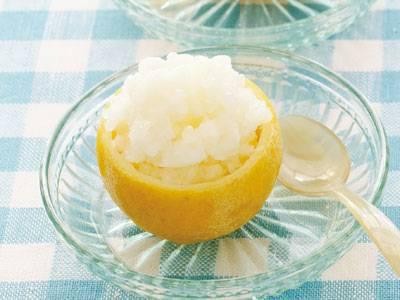 丸ごとレモンはちみつシャーベット
