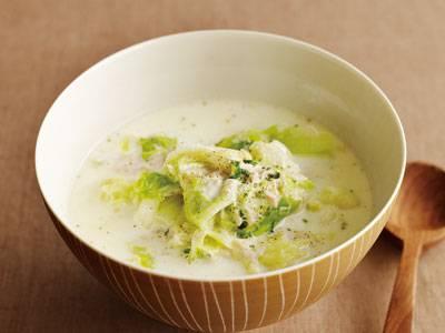 キャベツとツナのクリームスープ