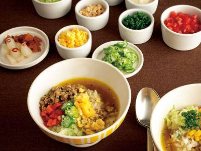 ひき肉カレースープご飯