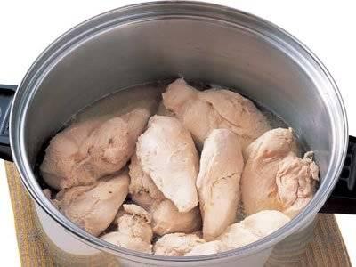 もも肉 茹でる 鶏