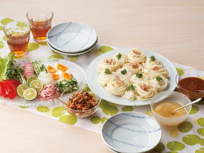 塩麹(こうじ)だれのパーティー麺