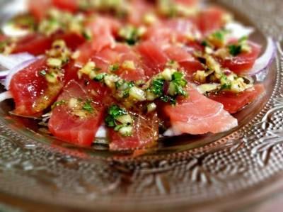 マグロのカルパッチョ風サラダ レシピ |【みんなのきょうの料理】おいしいレシピや献立を探そう