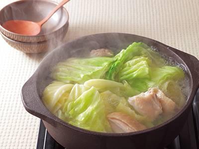 キャベツと鶏肉の水炊き