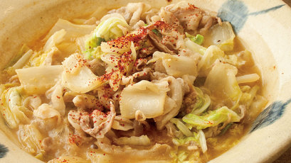 【今日の料理】【今日の料理】白菜と豚バラ肉のにんにくみそ鍋