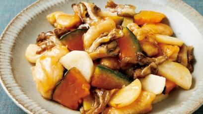 【今日の料理】【今日の料理】鶏むねと秋野菜の甘酢あん